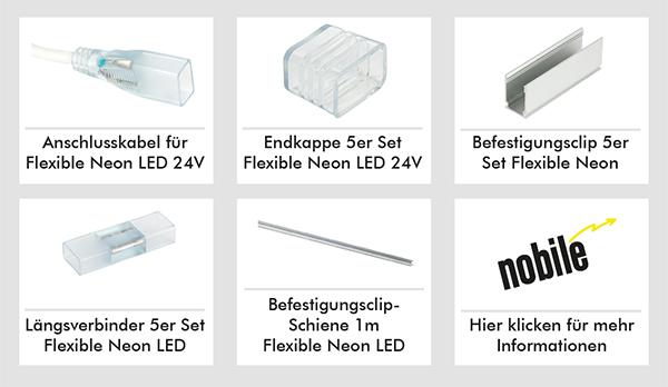 Zubehör Flexible Neon LED