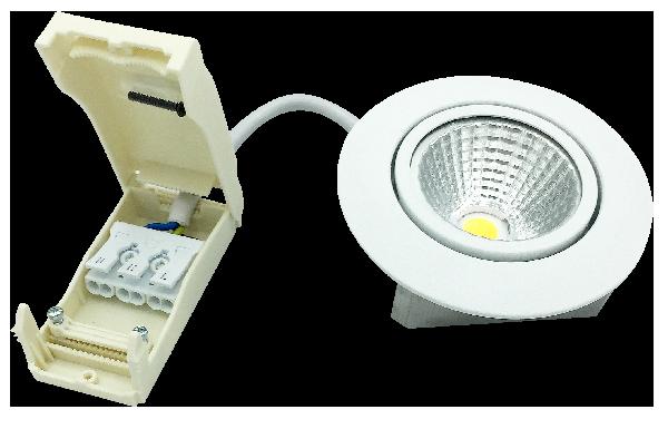 DOB Leuchte und Konnektor Box Klein